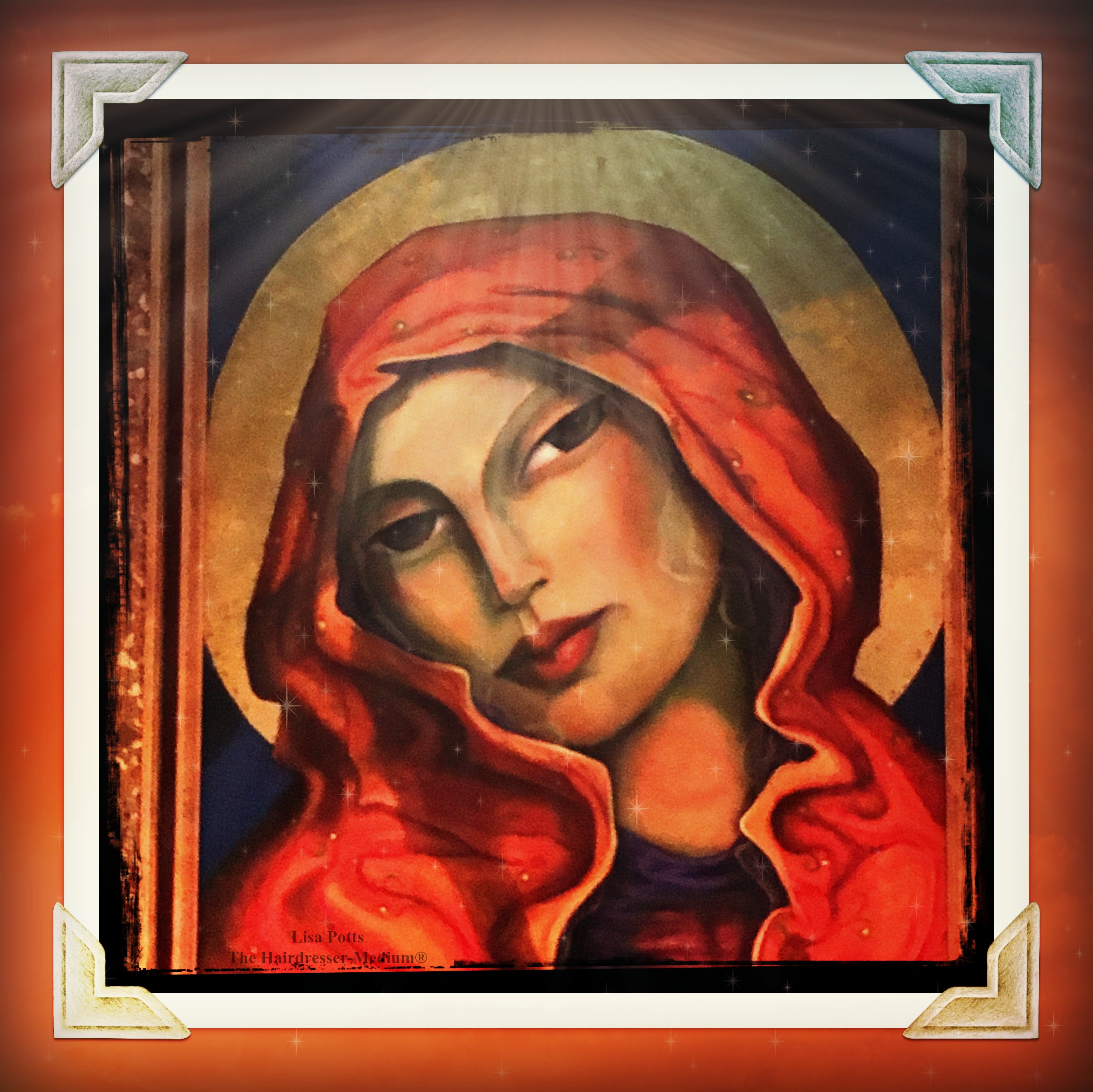 Mother Mary painting at the Chapel